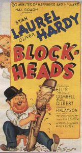 Block-Heads poster - Oliver Hardy & Stan Laurel