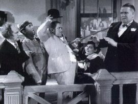 Funny movie quotes for Disorder in the Court (1936) starring the Three Stooges (Moe, Larry and Curly)