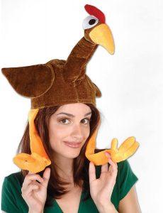 Plush turkey hat
