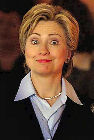 Hillary Clinton - goofy smile
