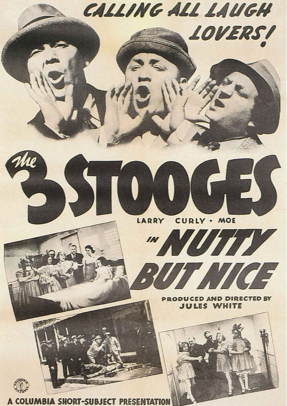 Nutty but Nice - Three Stooges movie poster