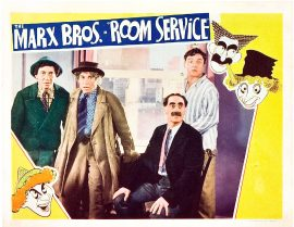 Funny movie quotes fromRoom Servicestarring the Marx Brothers (Groucho,Chico,Harpo), Lucille Ball, Ann Miller