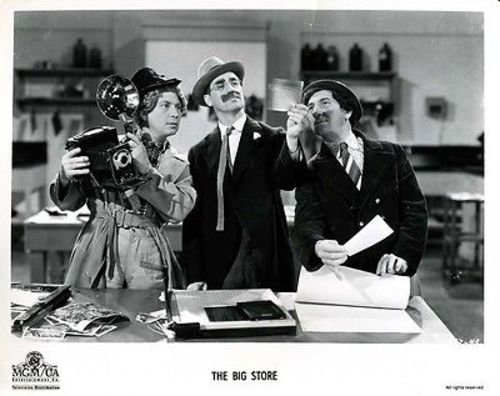 The Big Store, starring the Marx Brothers - Harpo, Groucho, Chico