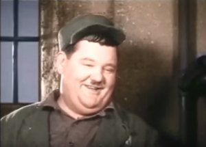 "Oliver Hardy in ""Pardon Us"""