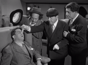 Funny movie quotes from Hold That Lion, starring 4 of the Three Stooges - Moe, Larry, Shemp and a cameo by Curly