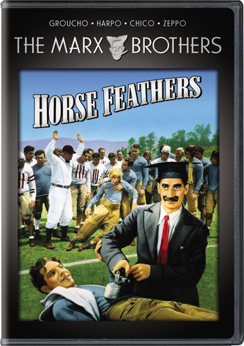 Funny movie quotes from Horse Feathers, starring the Marx Brothers (Groucho Chico, Harpo, Zeppo)