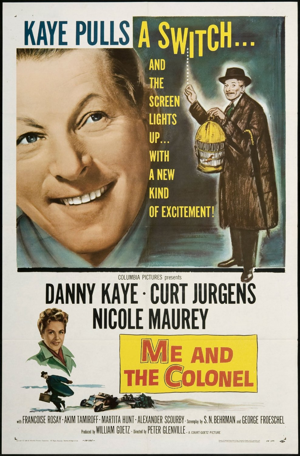 Funny movie quotes from Me and the Colonel, starring Danny Kaye