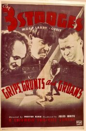 Funny movie quotes fromGrips, Grunts and Groansstarring the Three Stooges (1937)