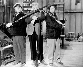 Funny movie quotes from Idiots Deluxe, starring the Three Stooges