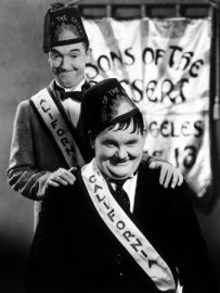 Funny movie quotes from Sons of the Desert starring Laurel and Hardy - a funny comedy where they pretend to go on an ocean voyage while actual going to a convention - but they boat they're supposed to be on sinks!