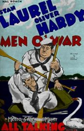 Funny movie quotes from Men O'War, starring Laurel and Hardy