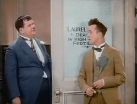 """Funny movie quotes from Chickens Come Home – a very funny movie, where Oliver Hardy is being blackmailed – and Stan Laurel """"helps"""" him!"""