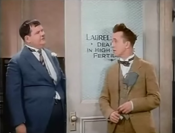 Funny movie quotes from Chickens Come Home, starring Laurel and Hardy