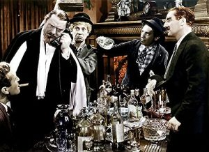 Sig Ruman with the Marx Brothers