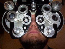Red Skelton's eye exam