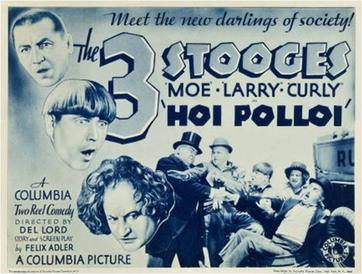 Funny movie quotes from the Three Stooges' short film, Hoi Polloi (1935)