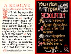 History of New Year's Resolutions