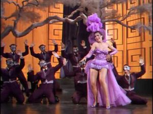 """Ann Miller as Bubbles, singing and dancing in """"Lovely to Look At"""""""