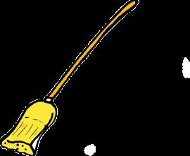 Left your broom behind