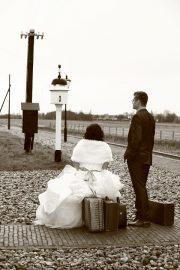 Ole and Lena on their honeymoon
