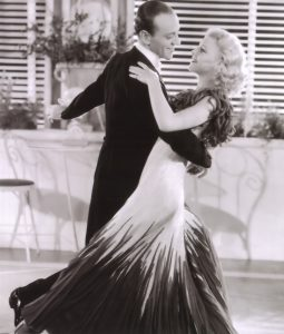 """Fred Astaire and Ginger Rogers dancing in """"The Gay Divorcee"""""""